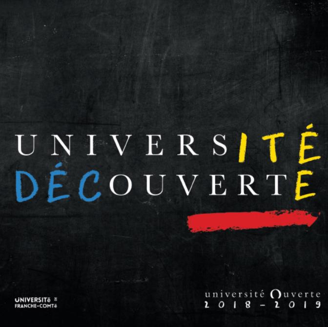 Programme de l'université ouverte 2018 2019